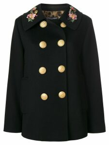 Dolce & Gabbana double breasted military coat - Black