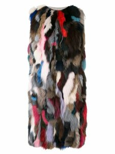 Liska Malvai sleeveless coat - Multicolour