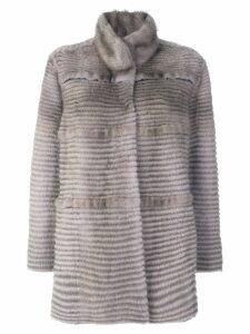 Liska panelled coat - Grey