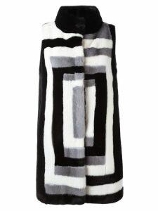 Liska sleeveless mink fur coat - Black
