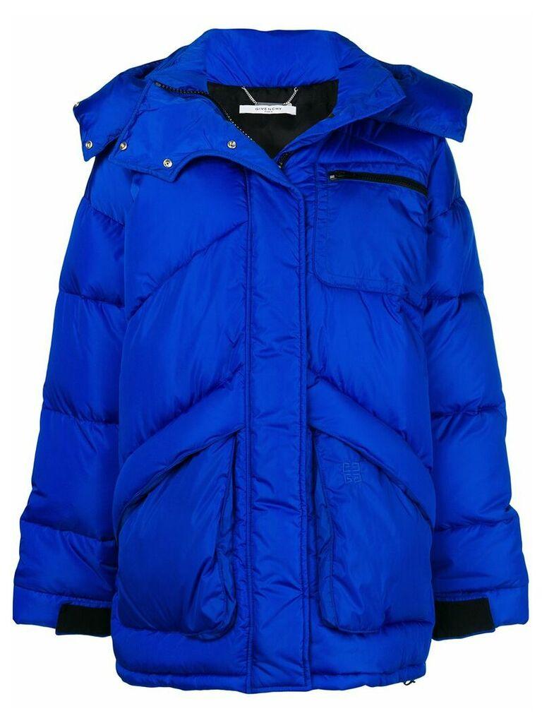 Givenchy 4G logo padded jacket - Blue