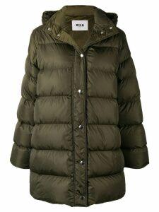 MSGM oversized padded coat - Green