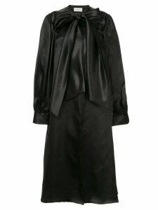 Isabel Sanchis coatdress with poet sleeves - Black