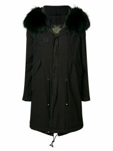 Mr & Mrs Italy fur-trim parka coat - Black