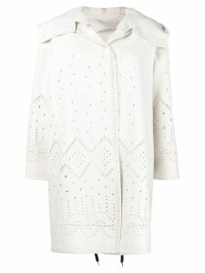 Ermanno Scervino perforated midi coat - NEUTRALS