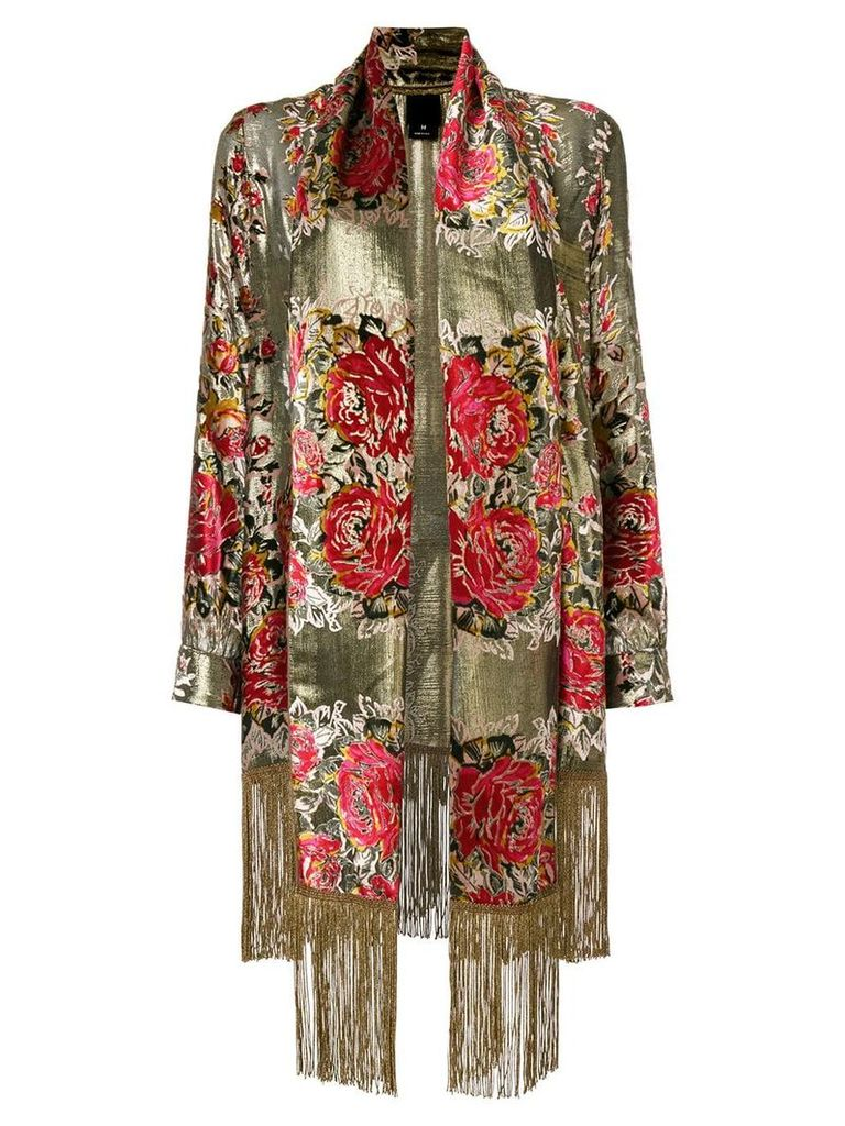 Anna Sui floral embroidered jacket - Metallic