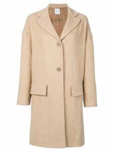 Agnona flap pocket coat - Neutrals