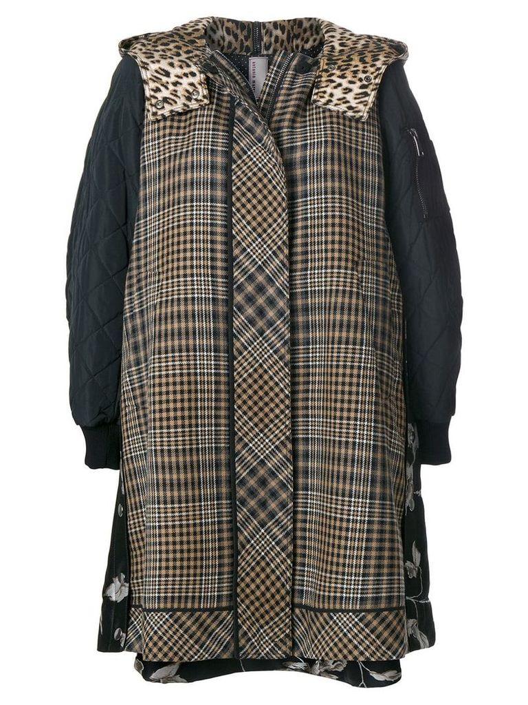 Antonio Marras panelled hooded jacket - Black