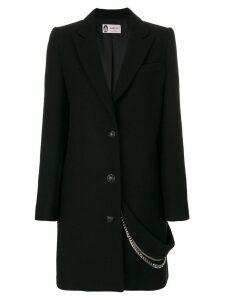 LANVIN chain embellished coat - Black
