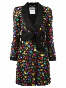 Moschino flower power coat - Black