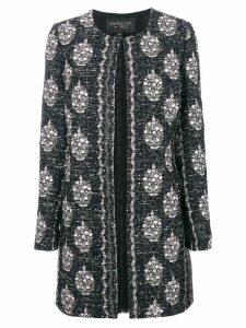 Giambattista Valli embroidered open front coat - Black