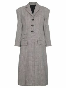 Wright Le Chapelain tailored hourglass Prince of Wales check coat -