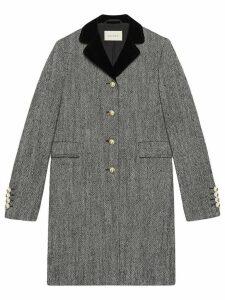 Gucci Single-breasted wool coat - Grey