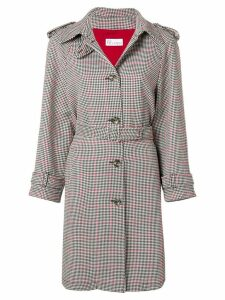 Red Valentino houndstooth coat - Black