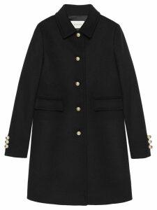 Gucci Single-breasted coat - Black