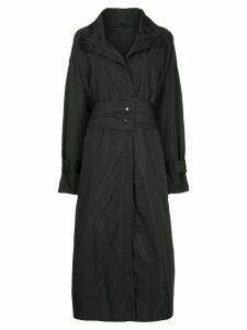 Taylor zipped trench coat - Black