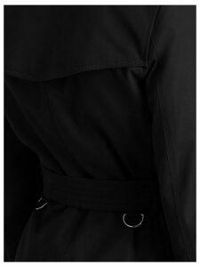 Burberry Kensington Mid-length Trench Coat - Black