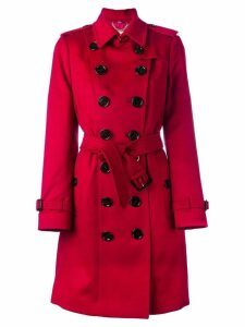 Burberry Sandringham Fit Cashmere Trench Coat - Red
