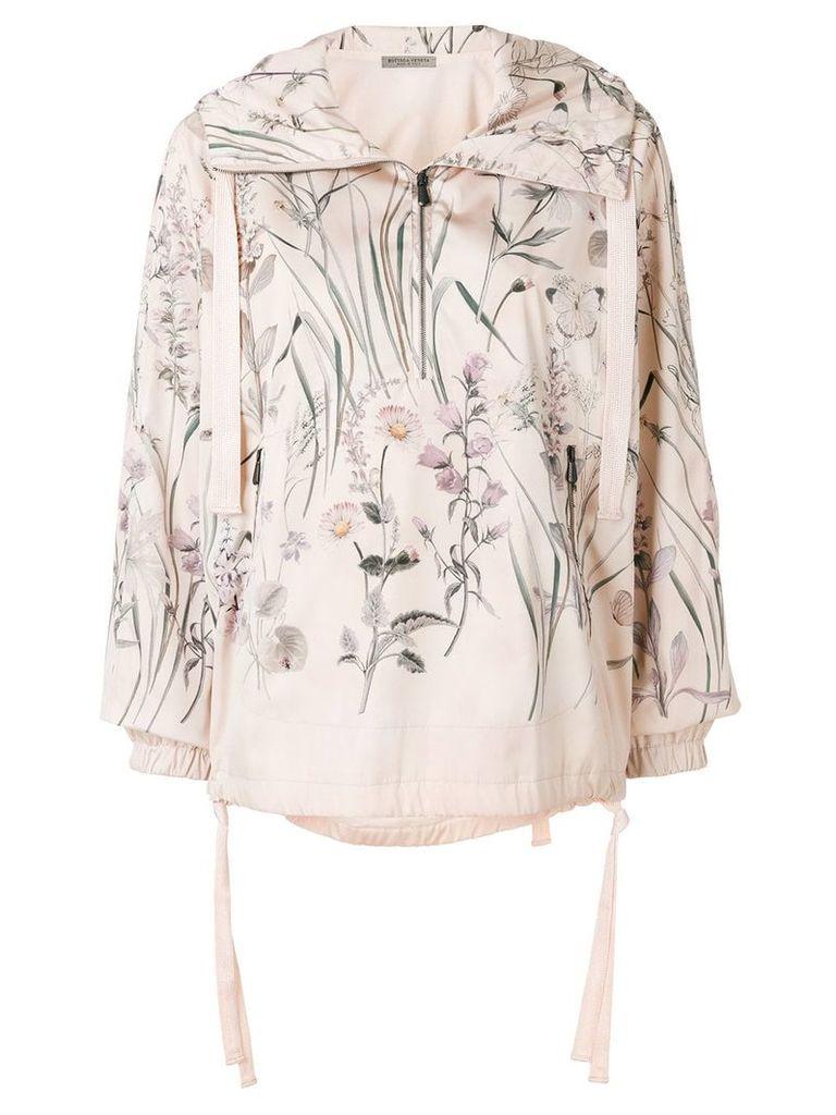Bottega Veneta botanical print polyester jacket - Nude & Neutrals