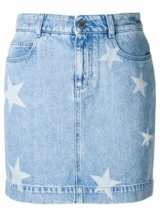 Stella McCartney star detail denim skirt - Blue