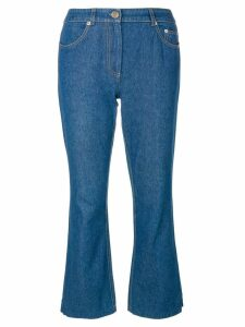 John Galliano Pre-Owned Flared jeans with appliqué - Blue