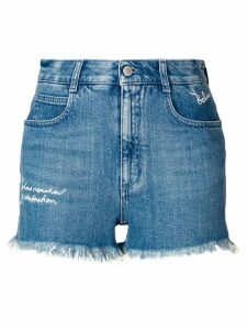 Stella McCartney distressed style shorts - Blue