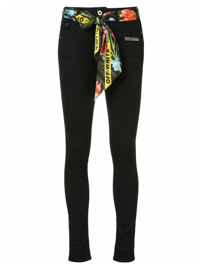 Off-White scarf waist jeans - Black