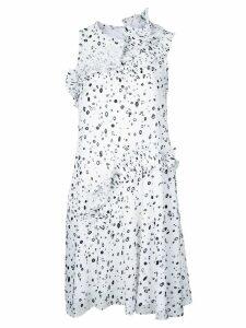 Carven dots print dress - White