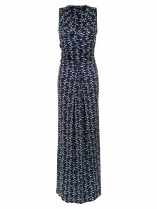 Tufi Duek draped long dress - Blue