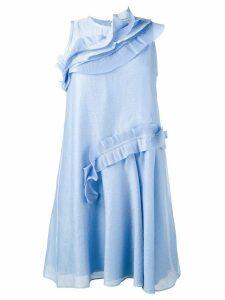 Carven ruffle trimmed dress - Blue