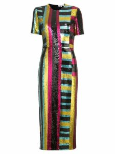 Diane von Furstenberg Short-sleeve sequin dress - Multicolour
