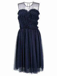 P.A.R.O.S.H. ruffled flared dress - Blue