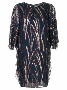 Ingie Paris flared sleeve dress - Blue