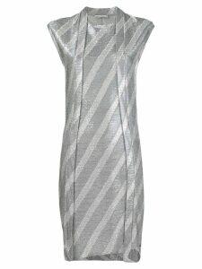 Paco Rabanne metallic stripe fitted dress