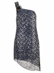 Haney asymmetric short dress - Blue