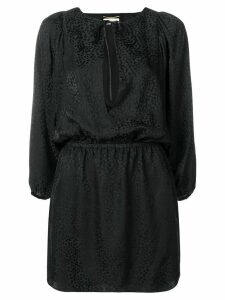 Saint Laurent printed mini dress - Black
