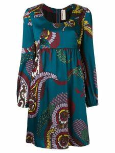 Antonio Marras floral print dress - Blue