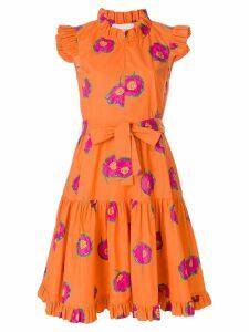 La Doublej floral print ruffle dress - Yellow