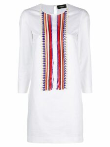 Dsquared2 fitted kaftan dress - White