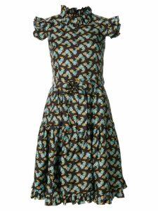 La Doublej Zip & Sassy dress - Brown