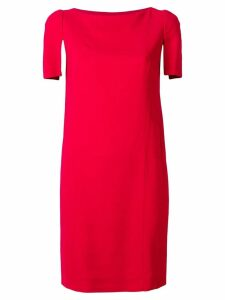 Lanvin contrast sleeve dress - Red