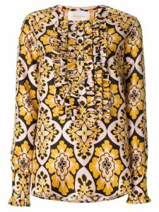 La Doublej Palazzo tuxedo shirt - Yellow