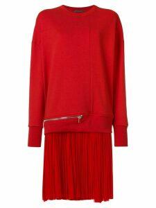 Alexander McQueen sweatshirt dress - Red