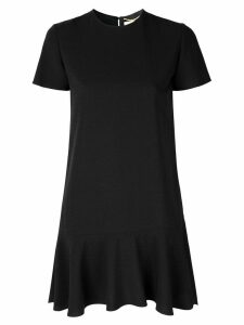 Saint Laurent short sleeve mini dress - Black