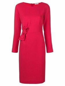 P.A.R.O.S.H. bow front fitted dress - PINK