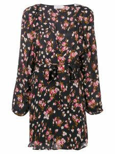A.L.C. floral wrap mini dress - Black