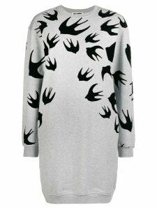 McQ Alexander McQueen swallow print dress - Grey