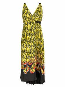 Prada sleeveless banana flame print dress - Yellow