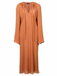 Voz bell sleeve dress - Brown