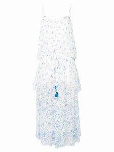 Ermanno Ermanno floral print maxi dress - White